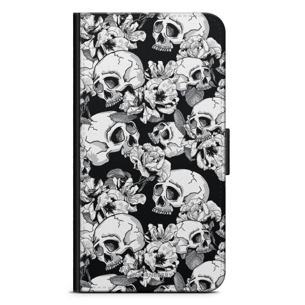 Bjornberry Plånboksfodral iPhone 6/6s - Dödskallar & Rosor