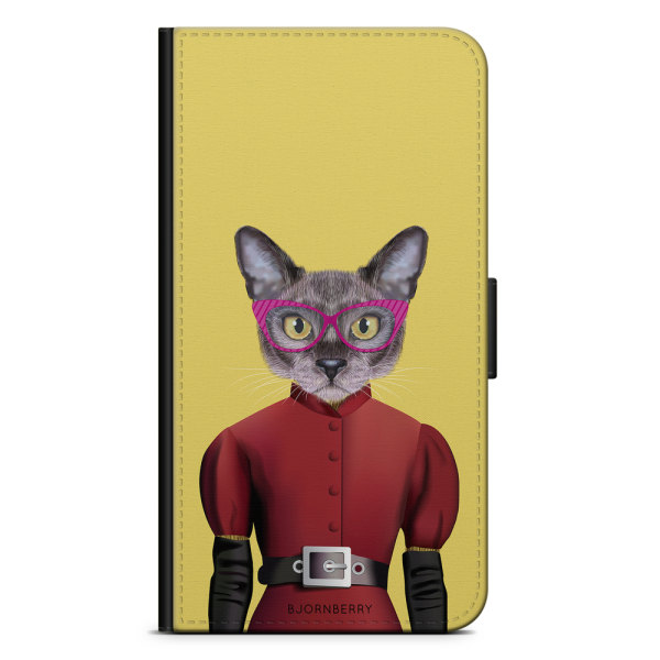 Bjornberry Plånboksfodral iPhone 6/6s - Hipster Katt