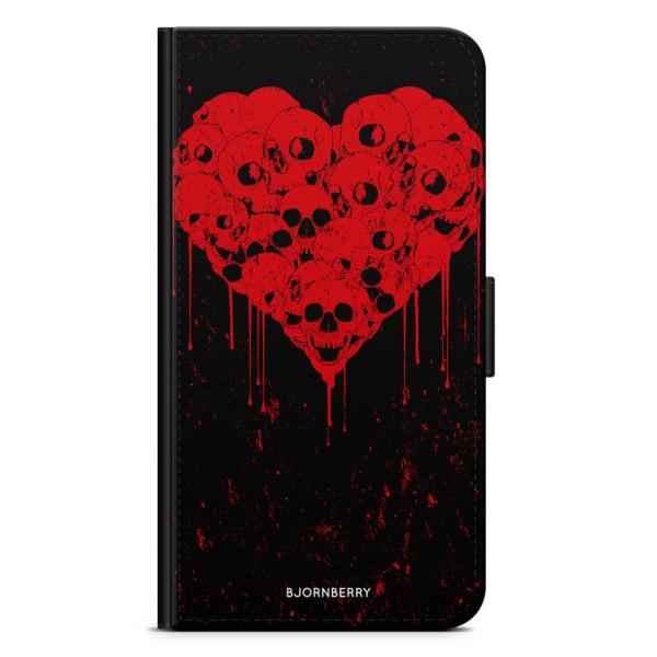 Bjornberry Plånboksfodral iPhone 7 - Skull Heart
