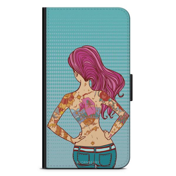 Bjornberry Plånboksfodral iPhone 7 - Tatuerad Tjej