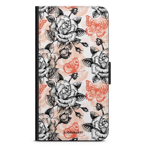 Bjornberry Plånboksfodral iPhone 8 Plus - Fjärilar & Rosor