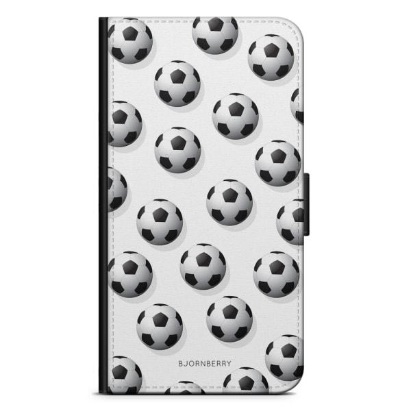 Bjornberry Plånboksfodral iPhone 8 Plus - Fotbolls Mönster