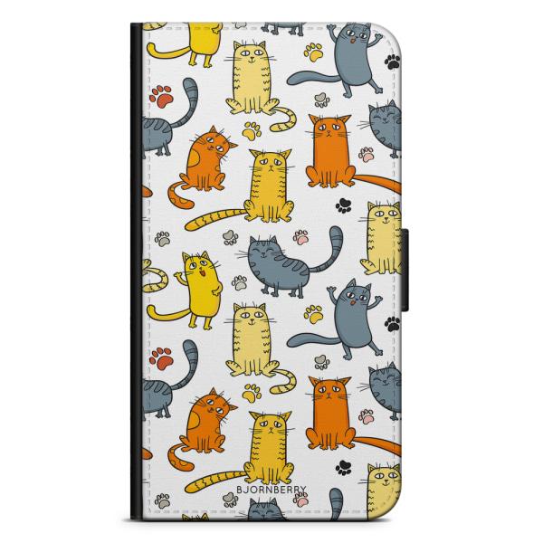 Bjornberry Plånboksfodral iPhone 8 Plus - Kattmönster