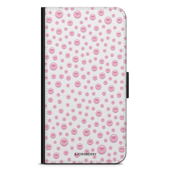 Bjornberry Plånboksfodral iPhone 8 Plus - Rosa Pärlor