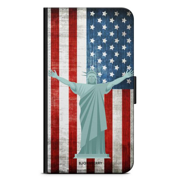 Bjornberry Plånboksfodral iPhone X / XS - Frihetsgudinnan