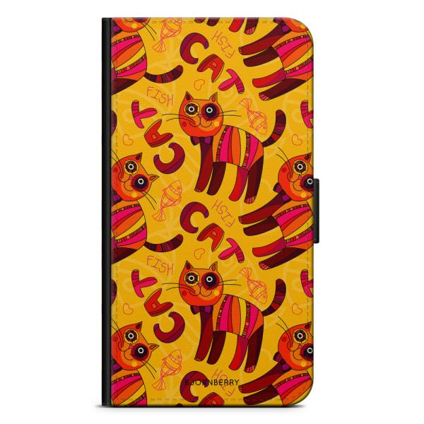 Bjornberry Plånboksfodral iPhone X / XS - Katt & Fisk