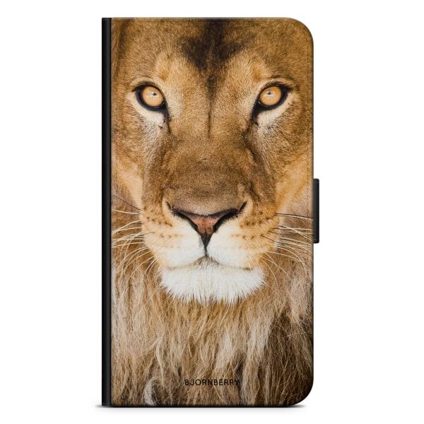 Bjornberry Plånboksfodral iPhone X / XS - Lejonansikte