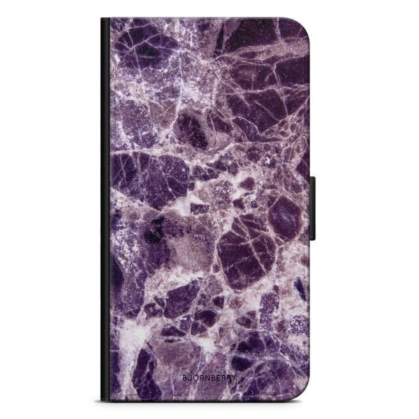 Bjornberry Plånboksfodral iPhone X / XS - Lila Marmor