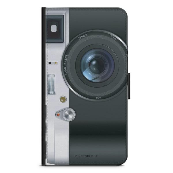 Bjornberry Plånboksfodral iPhone X / XS - Retro Kamera
