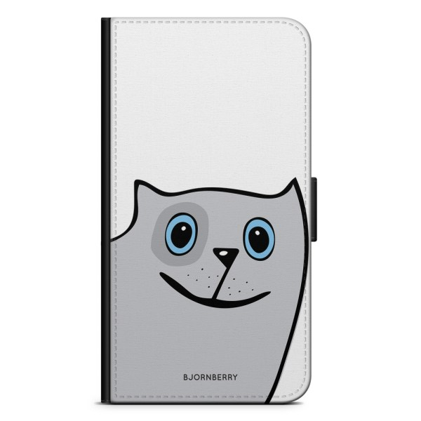 Bjornberry Plånboksfodral iPhone X / XS - Rolig Katt