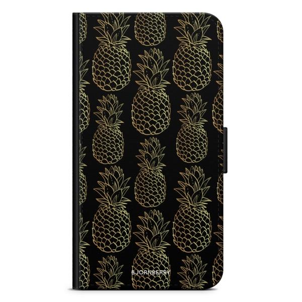 Bjornberry Plånboksfodral iPhone XR - Guldiga Ananas
