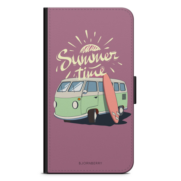 Bjornberry Plånboksfodral iPhone XR - Summer Van (Rosa)