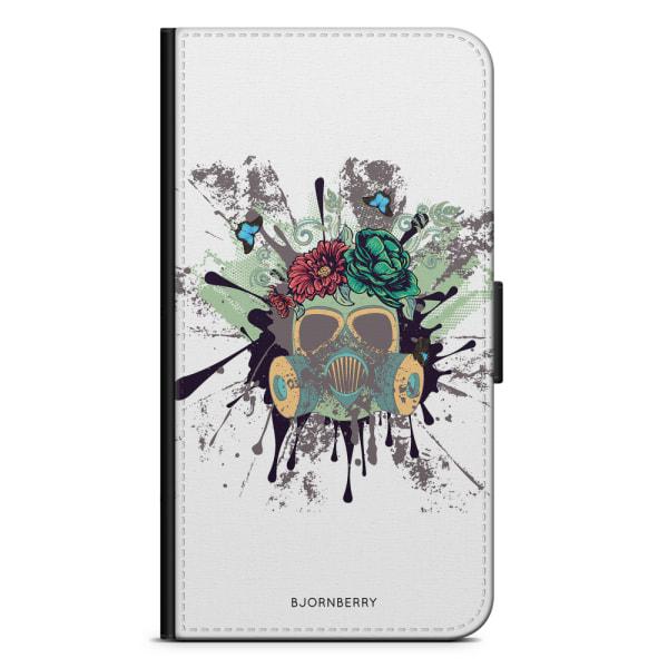 Bjornberry Plånboksfodral iPhone XS MAX - Gas Mask Blommor