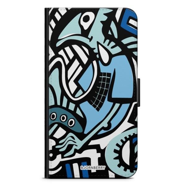 Bjornberry Plånboksfodral iPhone XS MAX - Grafitti Ödla