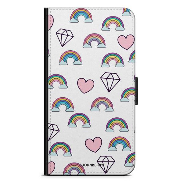 Bjornberry Plånboksfodral iPhone XS MAX - Regnbågar Diamanter