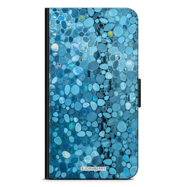 Bjornberry Plånboksfodral iPhone XS MAX - Stained Glass Blå