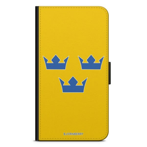 Bjornberry Plånboksfodral iPhone XS MAX - Tre Kronor