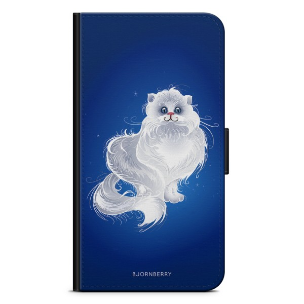 Bjornberry Plånboksfodral iPhone XS MAX - Vit Katt