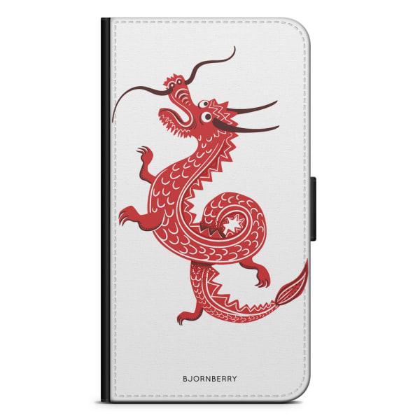 Bjornberry Plånboksfodral LG G7 ThinQ - Röd Drake
