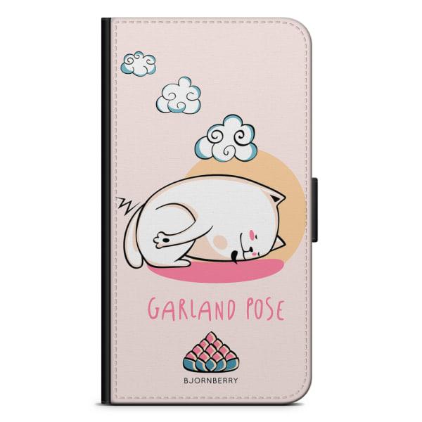 Bjornberry Plånboksfodral LG G7 ThinQ - Yoga Cat Garland