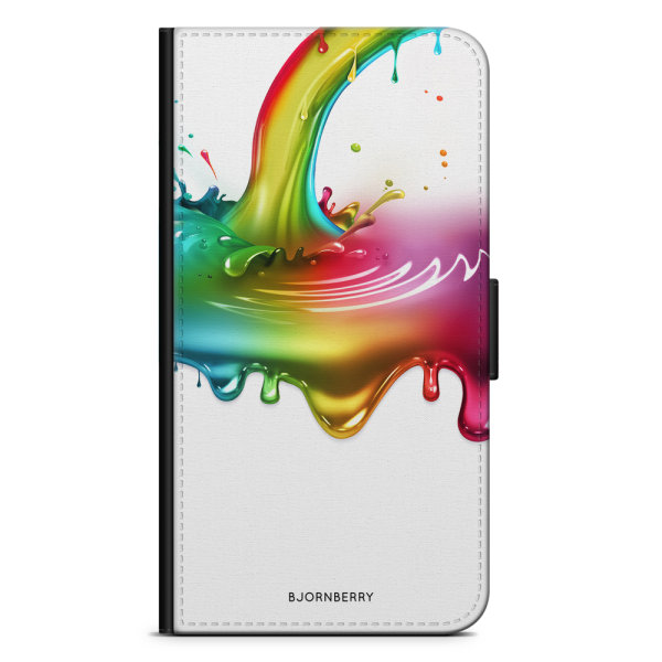 Bjornberry Plånboksfodral LG V10 - Regnbågs Splash