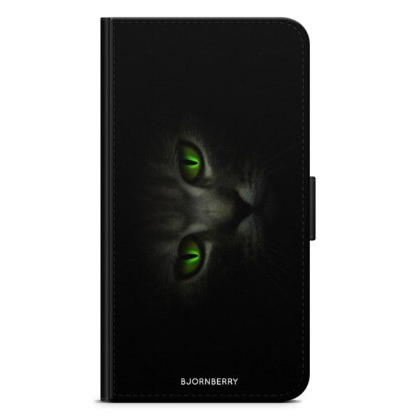 Bjornberry Plånboksfodral LG V30 - Gröna Kattögon