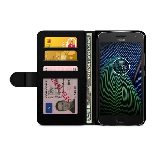 Bjornberry Plånboksfodral Moto G5 Plus - Guld Duvor