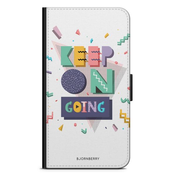 Bjornberry Plånboksfodral Moto G5 Plus - Keep on going