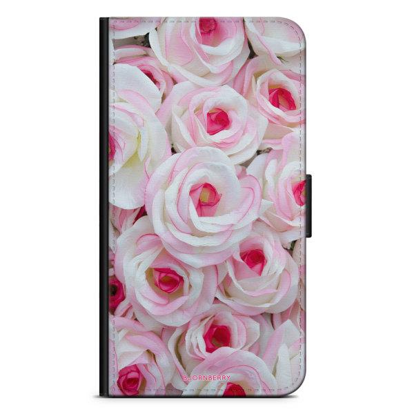 Bjornberry Plånboksfodral Moto G5 Plus - Rosa Rosor