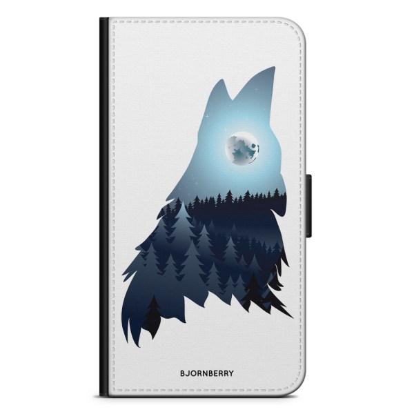 Bjornberry Plånboksfodral Motorola Moto G6 -Forest Wolf