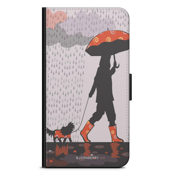 Bjornberry Plånboksfodral Motorola Moto G6 -Promenad i Regnet