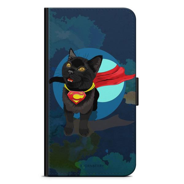 Bjornberry Plånboksfodral Motorola Moto G6 -Super Katt