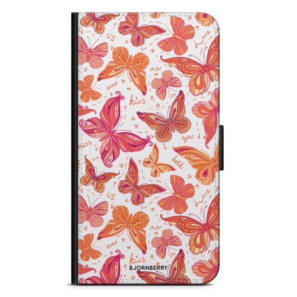 Bjornberry Plånboksfodral Nokia 6.1 - Fjärilar