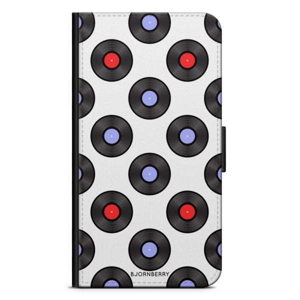 Bjornberry Plånboksfodral Nokia 7 Plus - Vinylskivor