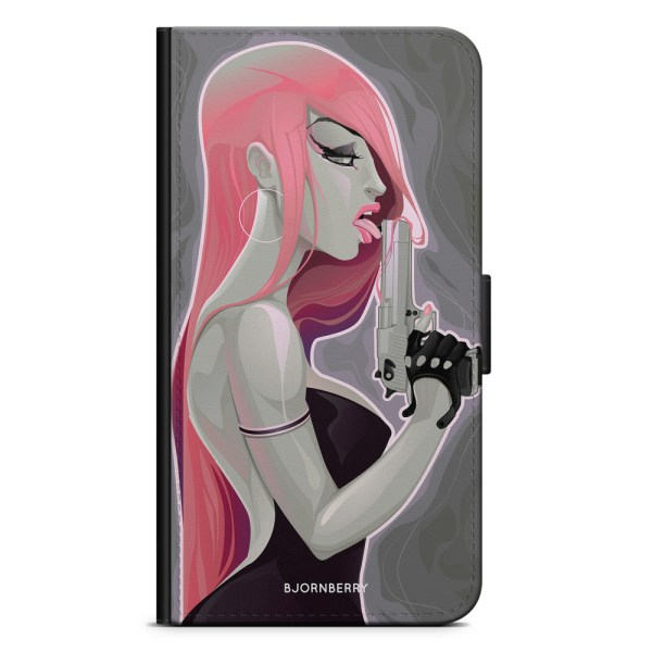 Bjornberry Plånboksfodral OnePlus 5 - Pistolkvinna