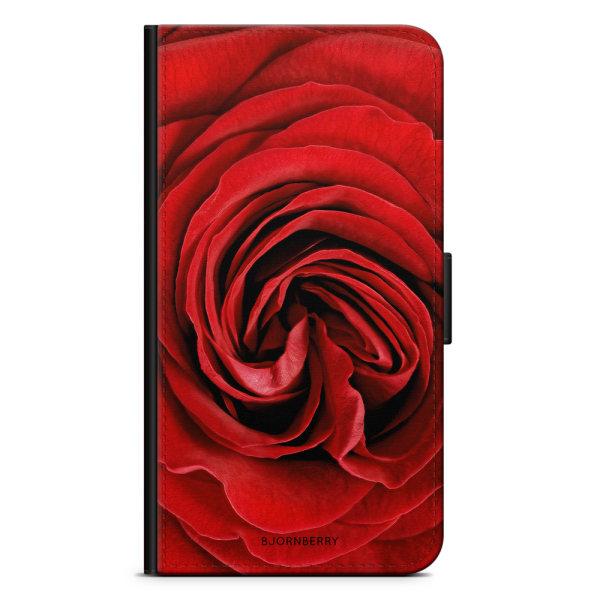 Bjornberry Plånboksfodral OnePlus 5 - Röd Ros
