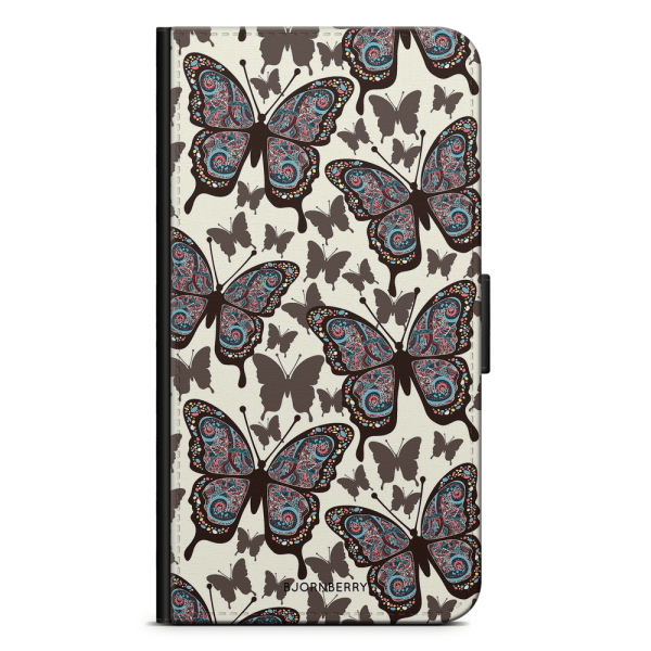 Bjornberry Plånboksfodral OnePlus 6 - Färgglada Fjärilar