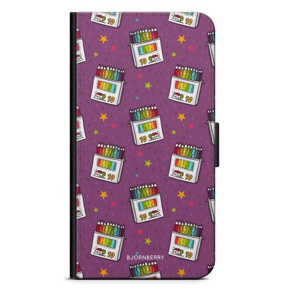 Bjornberry Plånboksfodral OnePlus 6T - Färgpennor