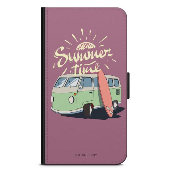 Bjornberry Plånboksfodral OnePlus 7 - Summer Van (Rosa)