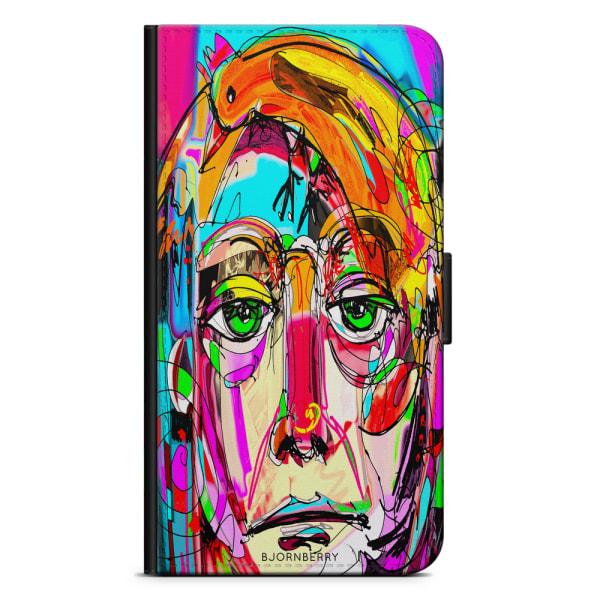 Bjornberry Plånboksfodral Sony Xperia 1 - Abstrakt Porträtt