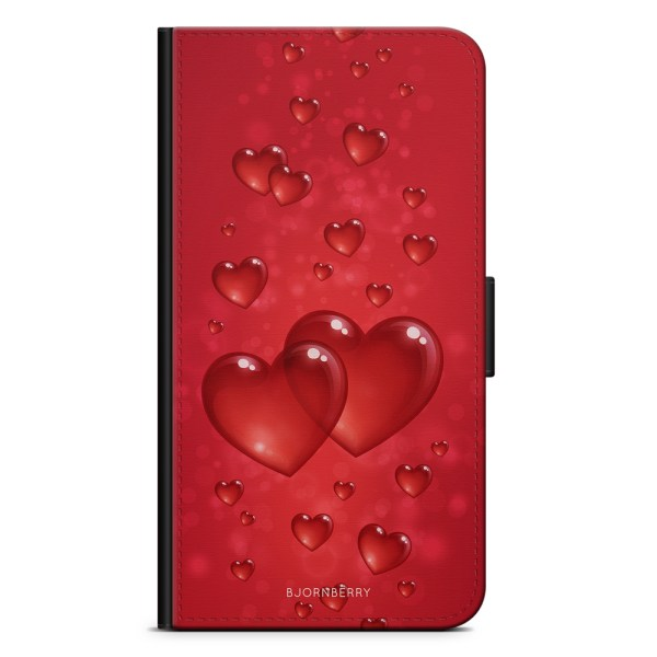 Bjornberry Plånboksfodral Sony Xperia 10 - Hjärtan