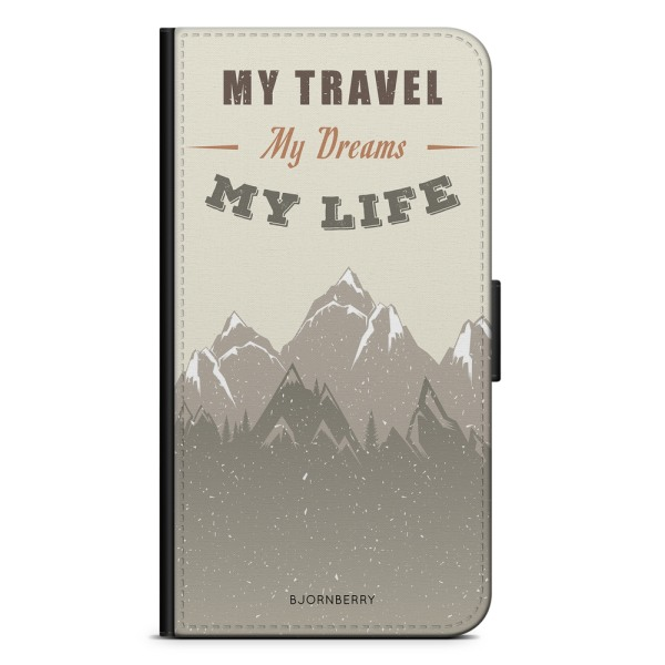 Bjornberry Plånboksfodral Sony Xperia 10 - My Travels, My Life