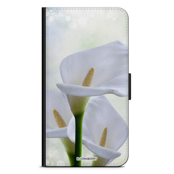 Bjornberry Plånboksfodral Sony Xperia XA - Vit Blomma