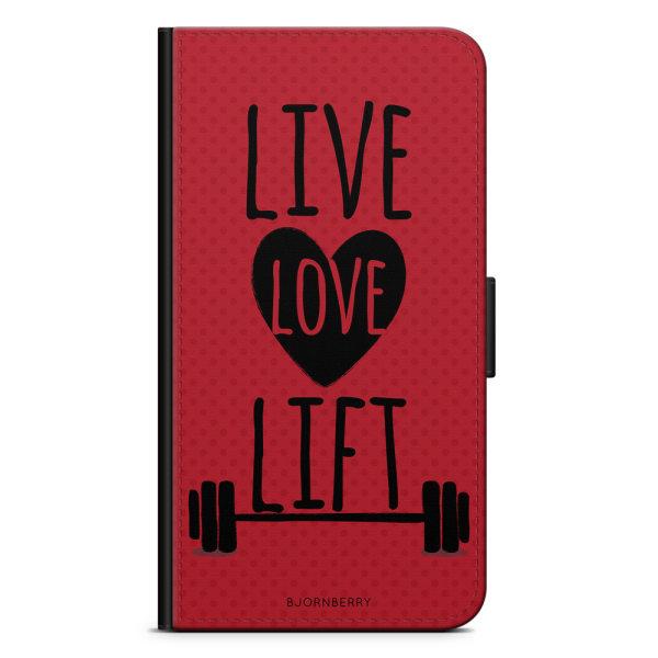 Bjornberry Plånboksfodral Sony Xperia XA1 - Live Love Lift