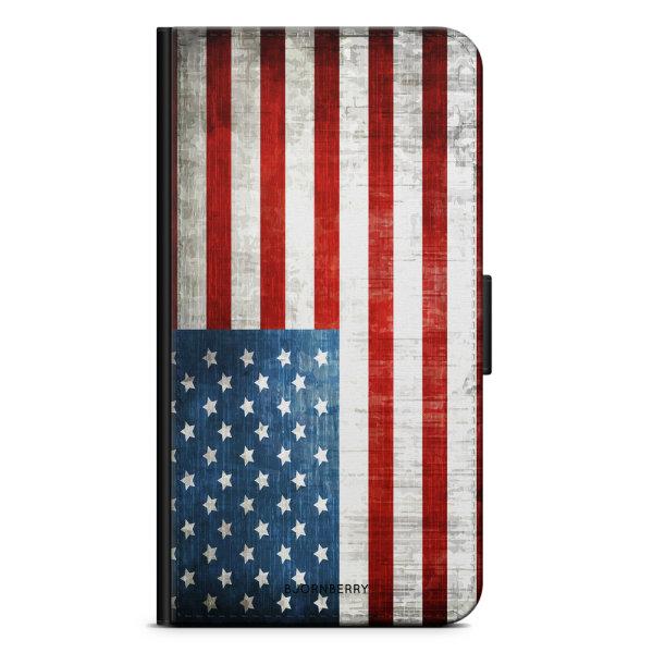 Bjornberry Plånboksfodral Sony Xperia XA1 - USA Flagga