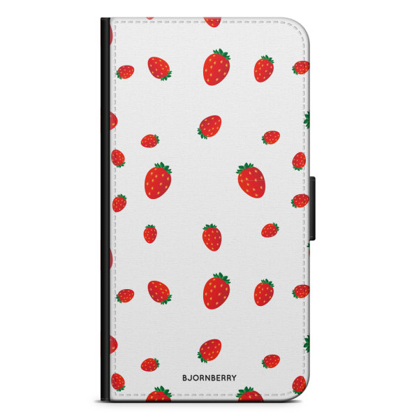 Bjornberry Plånboksfodral Sony Xperia XA2 - Jordgubbar