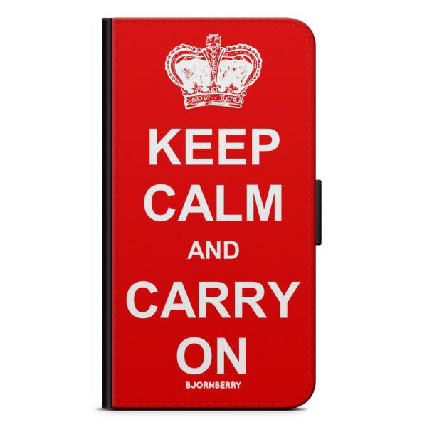 Bjornberry Plånboksfodral Sony Xperia XA2 - Keep calm carry on