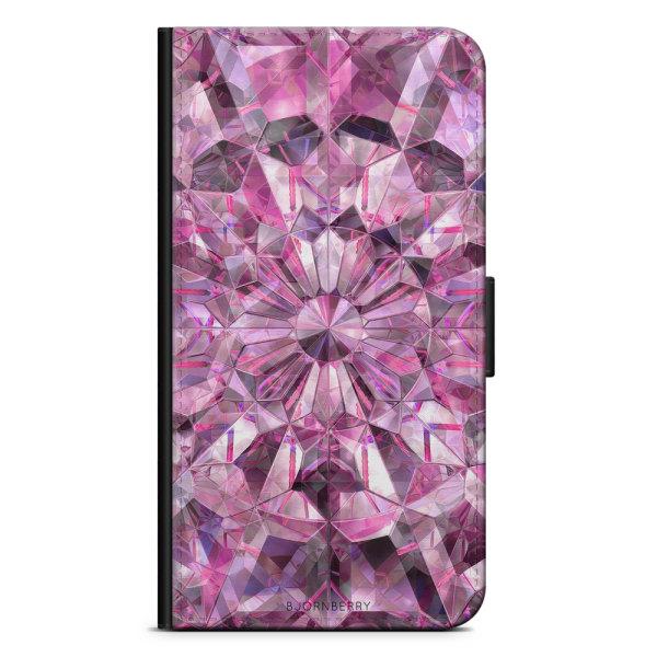 Bjornberry Plånboksfodral Sony Xperia XA2 - Rosa Kristaller