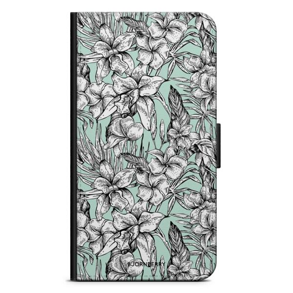 Bjornberry Plånboksfodral Sony Xperia XZ2 - Exotiska Blommor