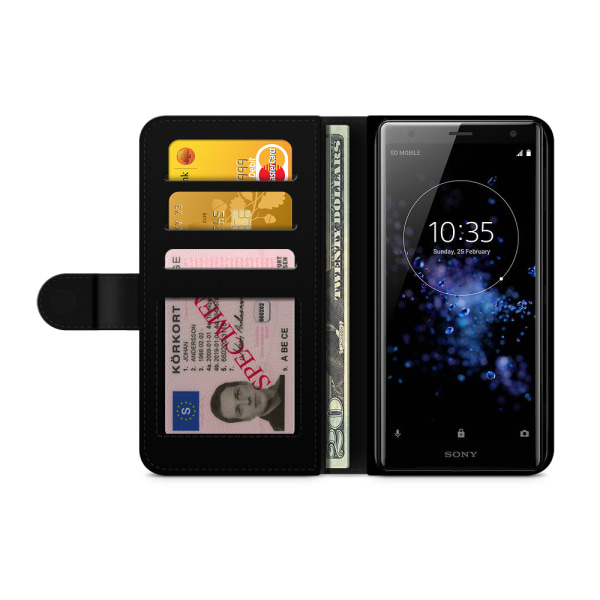 Bjornberry Plånboksfodral Sony Xperia XZ2 - Liten Gris